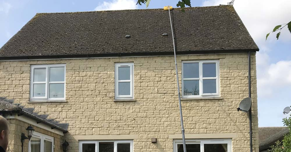 Professionally cleaned roof on domestic property in Oxfordshire