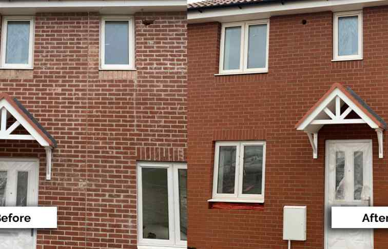 Brick cleaning project for Persimmon Homes in Swindon, Wiltshire